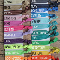 Set of 50 Fold Over Elastic Hair Ties...Follow me for more:)