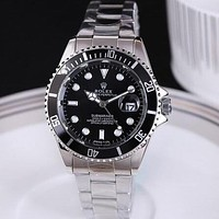 Rolex luxury classic water ghost ring fashion men and women steel band watch