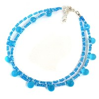 Beaded Blue Anklet