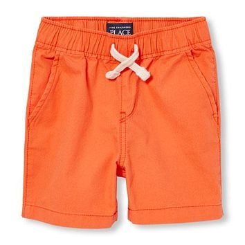 The Childrens Place Boys Toddler Lil Jogger Shorts, Orange Glow, 4T