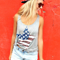 Stars & Stripes Flag Tank
