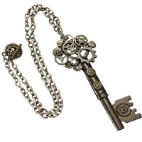 Steampunk Large Key Antique Necklace Adult