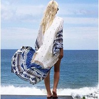 Blue Color Bikini Cover Ups  Beachwear