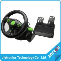 Wired USB Vibration Feedback racing wheel for ps3 Steering Wheel work for XBOX 360/ PS2/PS3/ PC (3 in 1) with free shipping