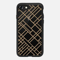 Map Outline 45 Brown Transparent iPhone 7 Case by Project M | Casetify