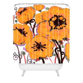 Natasha Wescoat Anemone Gold Shower Curtain
