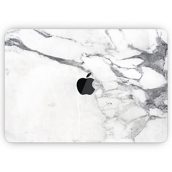 """White & Grey Marble Surface V3- Skin Decal Wrap Kit Compatible with the Apple MacBook Pro, Pro with Touch Bar or Air (11"""", 12"""", 13"""", 15"""" & 16"""" - All Versions Available)"""