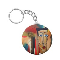 merger-abstract art keychain