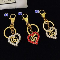 Gucci Fashion New Men's and Women's Letter Key with Diamonds