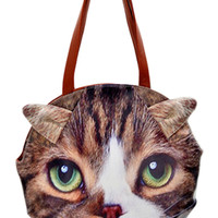 ROMWE 3D Cat Face Print Bag