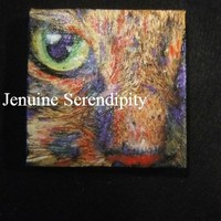 3x3 inch canvas acrylic painting