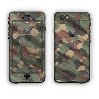 The Traditional Camouflage Fabric Pattern Apple iPhone 6 Plus LifeProof Nuud Case Skin Set