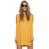 Long Sleeve Round Neck Dress