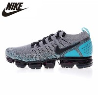 Nike Air Vapormax Flyknit 2.0 Men's Running Shoes, Gray & Blue, Shock Absorption Breathable Lightweight Non-slip 942842 104