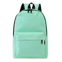 Women Canvas Backpacks Large Student  Bags For Teenagers Girls Rucksack  Mochila men women candy color  Travel Bags