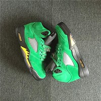 Air Jordan 5 Retro Oregon Suede Green