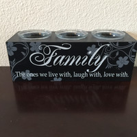 Family Inspirational Votive Candle Holder