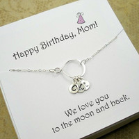 Birthday Gifts for Mom, Mother Presents, Mom Birthday Gift, Necklace Gifts for mother, Mother in law Birthday, Mother Initials Necklace