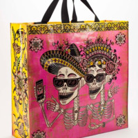 Day of the Dead Shopper with a Penny Pinching Coin Purse.