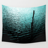 Midnight Lake Wall Tapestry by Moonshine Paradise