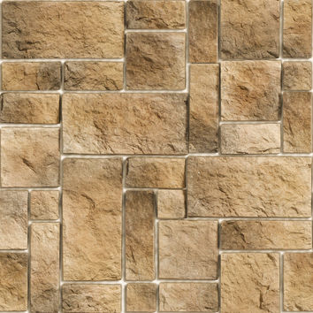 Stone Pattern Removable Wallpaper