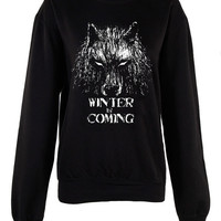 Winter is coming crew neck shirt unisex womens mens ladies  print sweatshirt  pullover jumper game of thrones