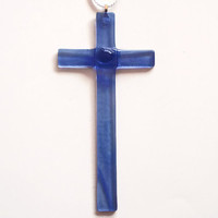 Glass Cross - Cross Sun Catcher