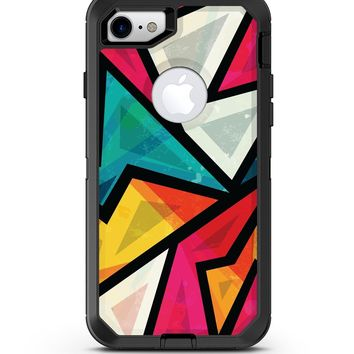 Retro Vector Sharp Shapes - iPhone 7 or 8 OtterBox Case & Skin Kits