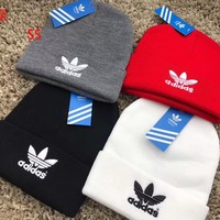 ADIDAS Knitted Beanie Cap Hat Winter Warm
