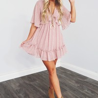 Ready For Date Night Dress: Blush/Ivory