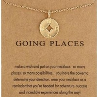 Going Places Compass Necklace