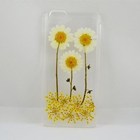 Uokwiwi™ Real white daisy flower case for iphone 5c, white dasiy case for iphone 5c