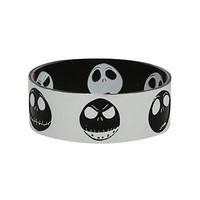 The Nightmare Before Christmas Jack Reversible Rubber Bracelet   Hot Topic