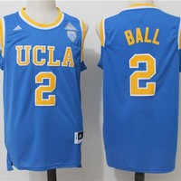 Best Sale Online NCAA University Basketball Jersey UCLA Bruins # 2 Lonzo Ball Blue
