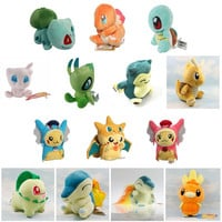 Pokemon Pikachu Cyndaquil Charmander Bulbasaur Dragonite Celebi Snorlax Torchic Squirtle Kids Plush Toys Dolls Stuffed