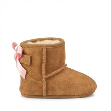 Baby Jesse Bow Suede Baby Bootie