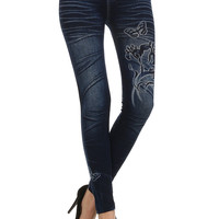 Butterfly & Orchid Jeggings