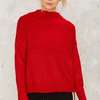 Playing With Fire Ribbed Sweater