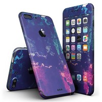 Blue & Purple Grunge iPhone 7 + Plus Ultra-Thin Design Skinz Slim-Fitting Protective Cover Wrap
