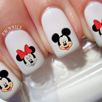 46 Mickey And Minnie Mouse Nail Decals