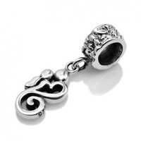 925 Sterling Silver Mom Kissing Baby Heart Shaped Dangle Bead Charm Fits Pandora Bracelet