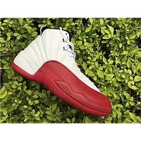 Air Jordan 12 Retro Cherry Varsity Red AJ12 Sneakers