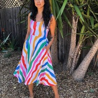 Salvation Print Vacation Dress