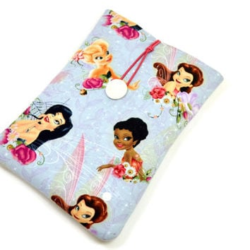 Handcrafted Tablet Case from Angle, Butterfly, Fairy Fabric /  Case for iPad Mini,  Kindle Fire HD 7, Google Nexus 7 , Samsung Galaxy Tab 7