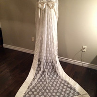 Vintage 1960's-1970's Lace Wedding Gown with Train