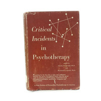 1959 Critical Incidents in Psychotherapy Book, Psychotherapists, Psychologist, Psychiatrist, Clergyman, Social Scientists, Psychology Gift