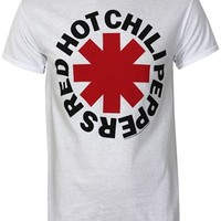 Red Hot Chili Peppers Asterisks Men's White T-Shirt - Buy Online at Grindstore.com