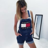 Tommy Jeans Baggy jeans jeans suspenders pants women