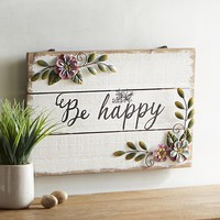 Be Happy Wall Décor