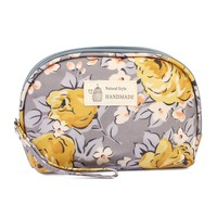 Gray Floral Petite Cosmetic Bag
